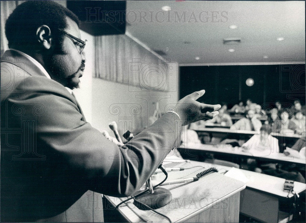 1979 Chicago, IL Mayoral Candidate Andrew Pulley, Socialist Workers Press Photo - Historic Images