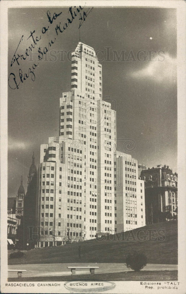 1938 Buenos Aires, Argentina Frente a La Plaza San Martin Apt Bldg Press Photo - Historic Images
