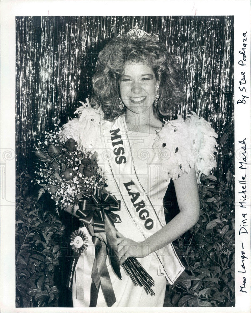 1986 Miss Largo, Florida 1986 Dina Marsh Press Photo - Historic Images