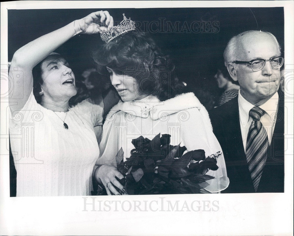 1979 Miss Largo, Florida 1979 Libby Lowe & Parents Press Photo - Historic Images
