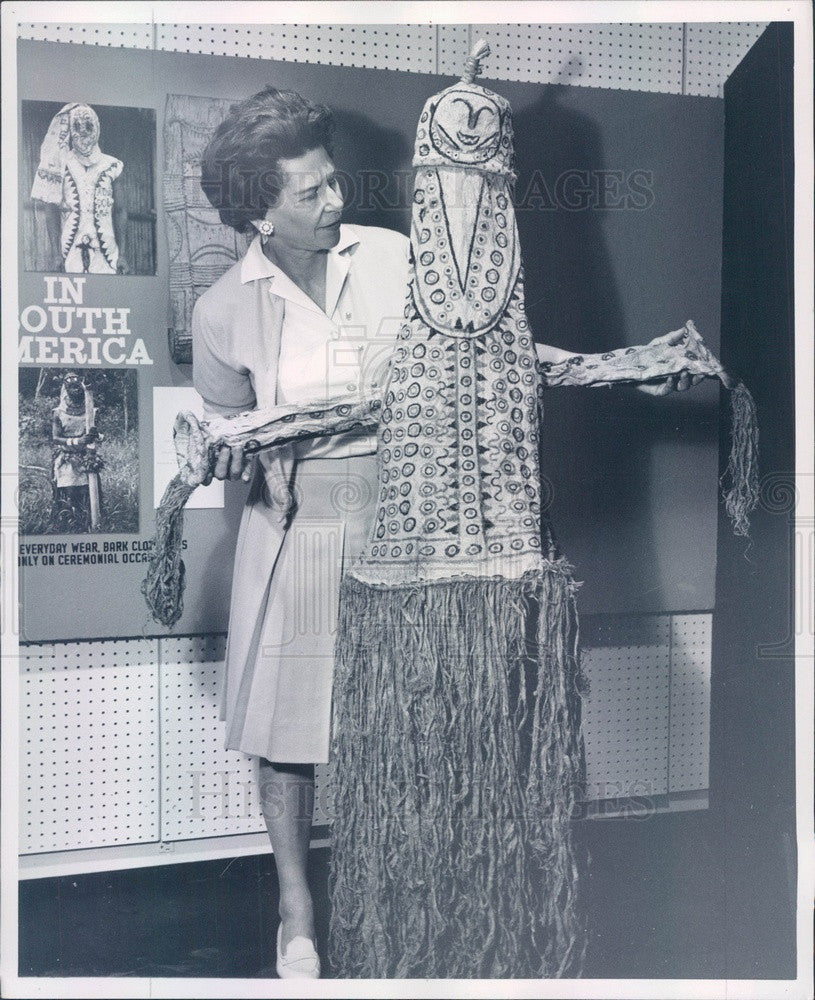 1963 Rio Branco, Brazil Funeral Dress Made of Tree Bark Press Photo - Historic Images