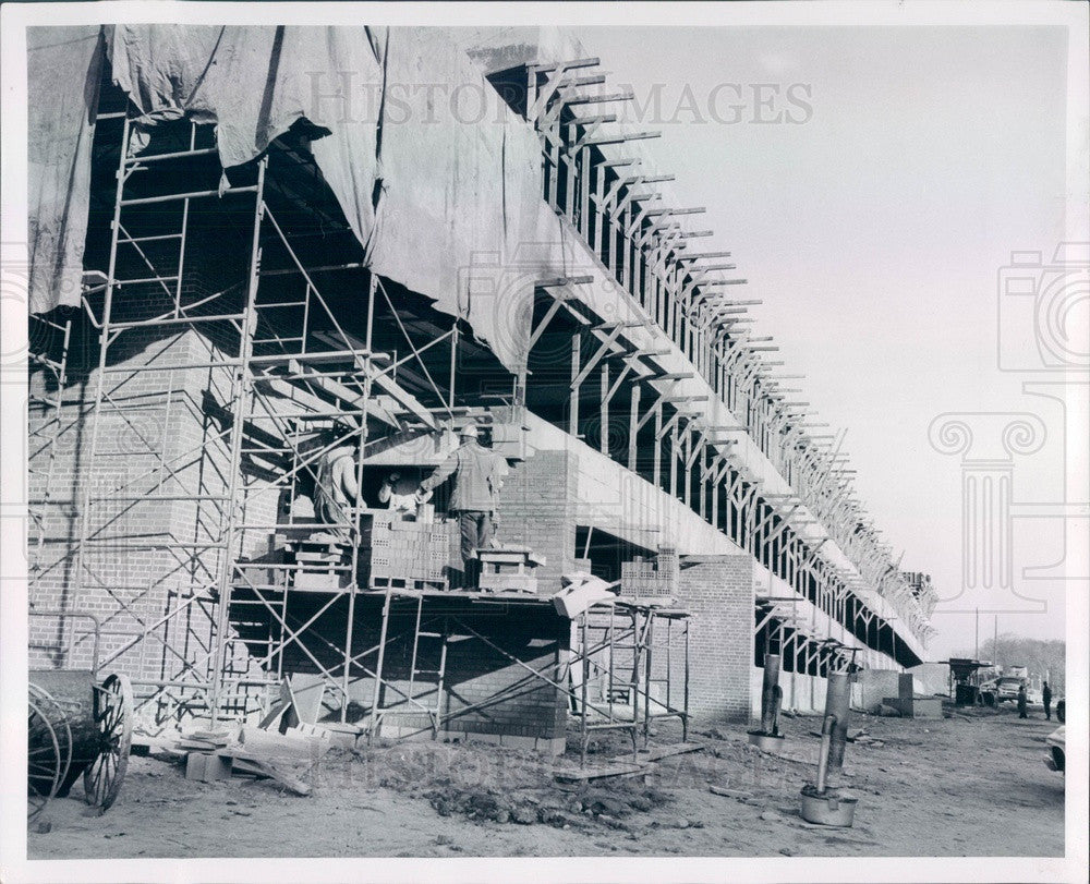 1963 East Lansing MI Michigan State Univ Parking Garage Construction Press Photo - Historic Images