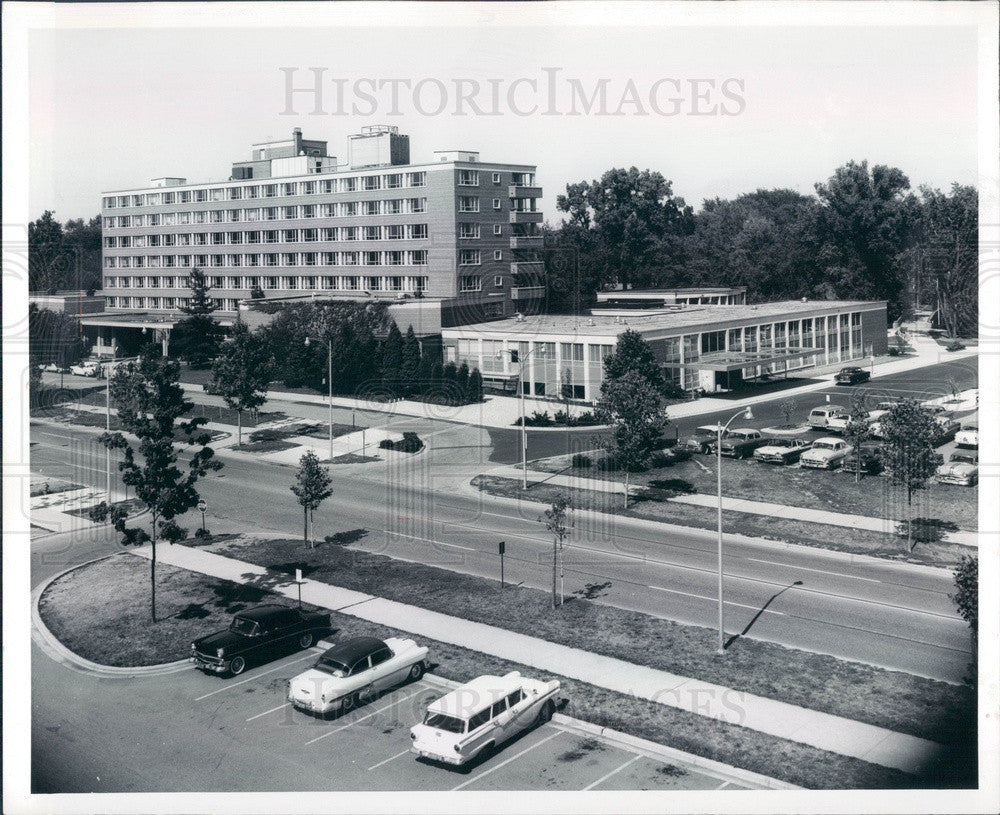 1961 East Lansing, MI Michigan State University Kellogg Center Press Photo - Historic Images