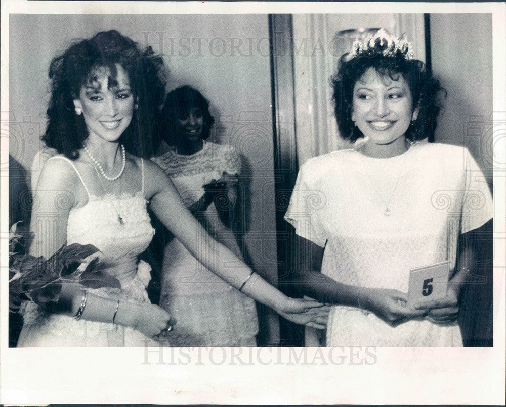 1985 Chicago, Illinois Greek Heritage Queens Maria Demetropoules Press Photo - Historic Images