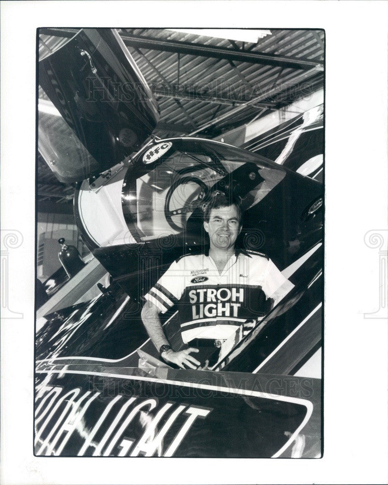 1988 Detroit, Michigan Hydroplane Boat Racer Wheeler Baker Press Photo - Historic Images