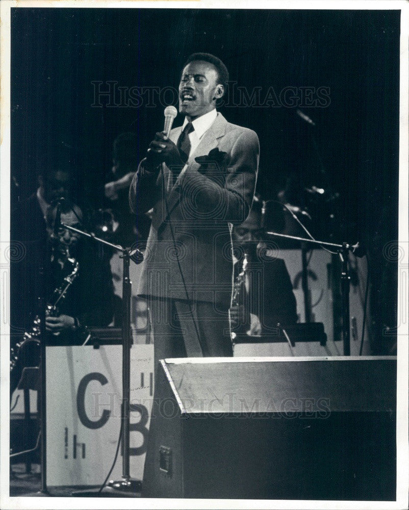 1981 American Jazz Singer Dennis Rowland Press Photo - Historic Images