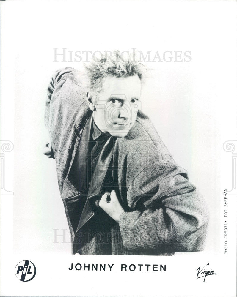 1988 Singer/Songwriter Johnny Rotten Press Photo - Historic Images