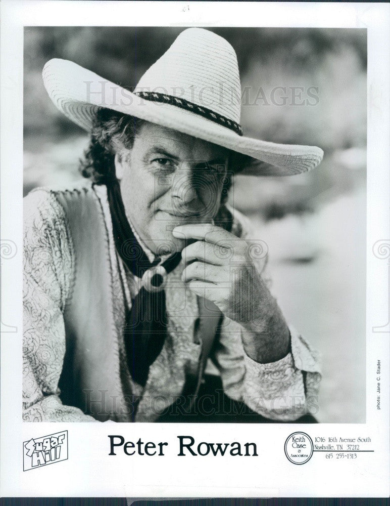 1991 American Bluegrass Musician/Composer Peter Rowan Press Photo - Historic Images