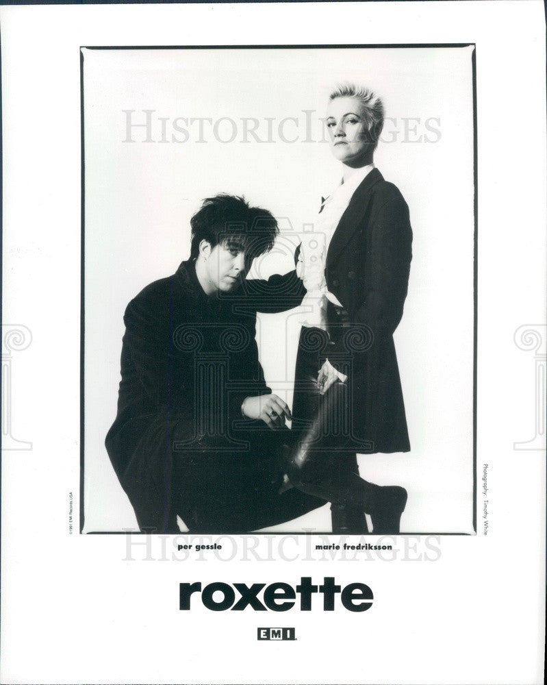 1992 Swedish Pop Music Duo Roxette Press Photo - Historic Images