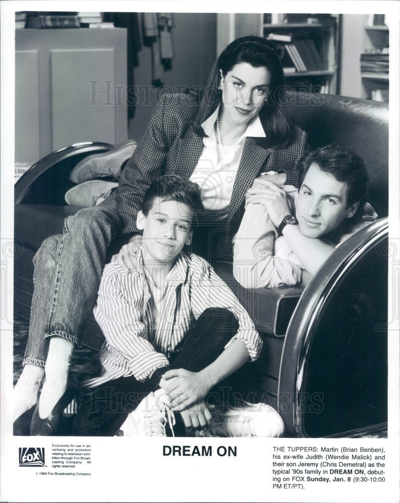1995 Actors Brian Benben/Wendie Malick/Chris Demetral in Dream On Press Photo - Historic Images