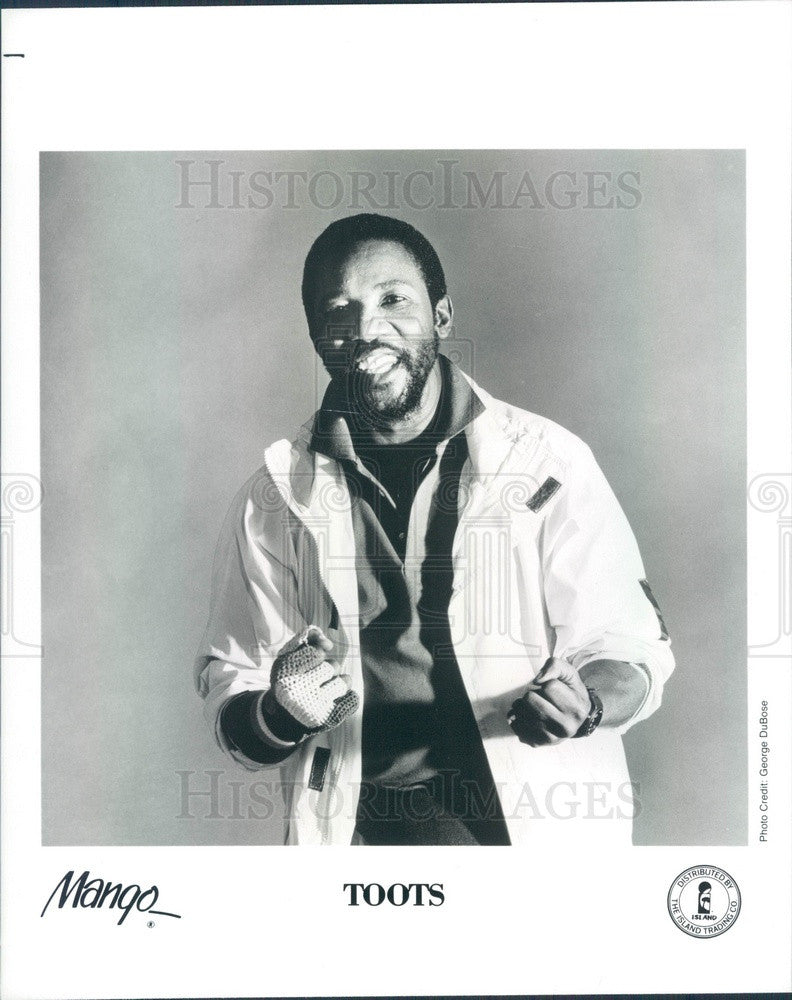 1989 Ska/Rocksteady/Reggae/Roots Reggae Singer Toots Press Photo - Historic Images