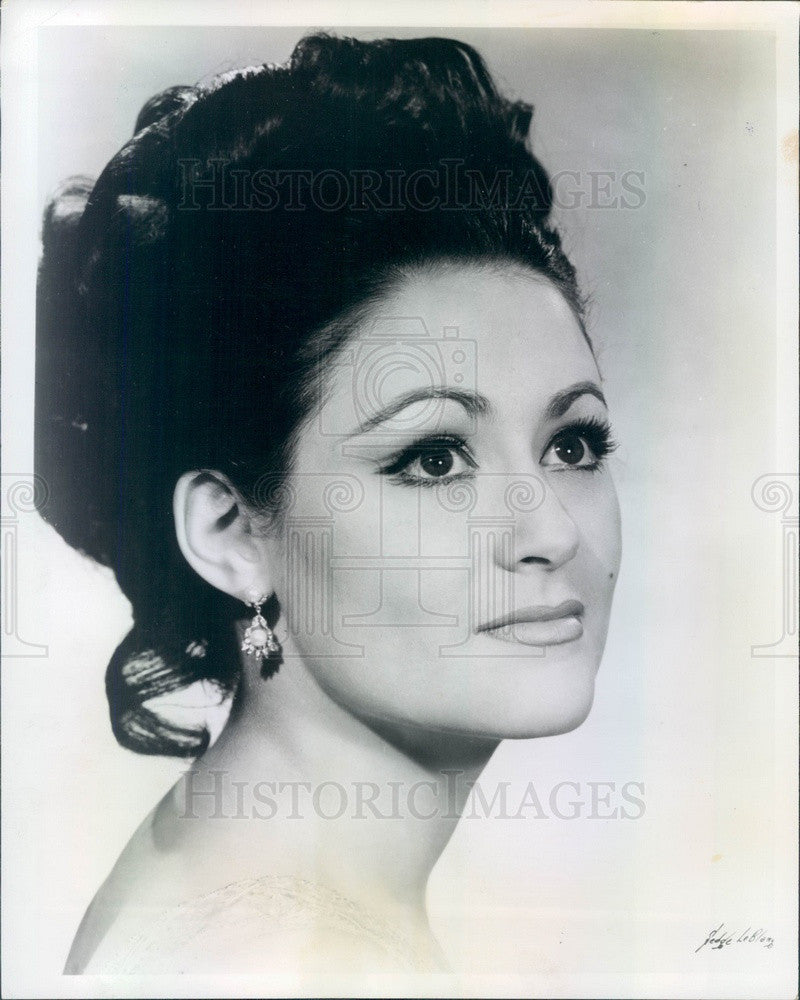 1969 American Opera Soprano Susan Belling Press Photo - Historic Images