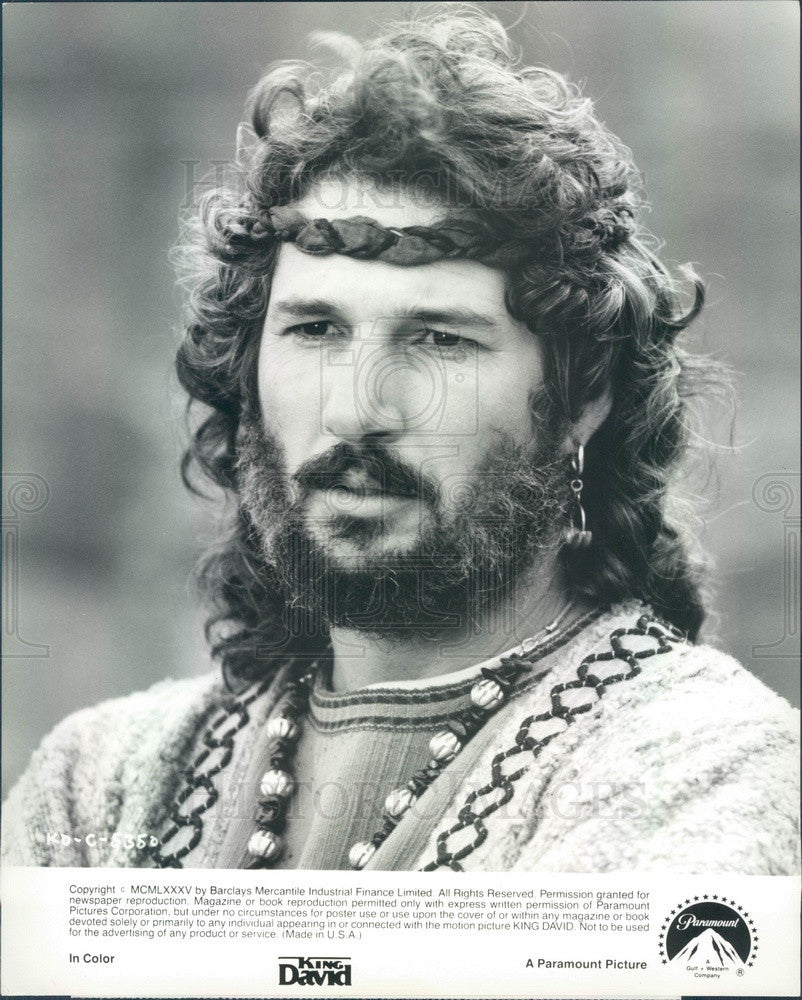 Undated American Hollywood Actor Richard Gere in King David Press Photo - Historic Images