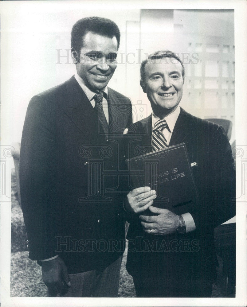 1971 TV Host Ralph Edwards This Is Your Life w/ Actor Gregg Morris Press Photo - Historic Images