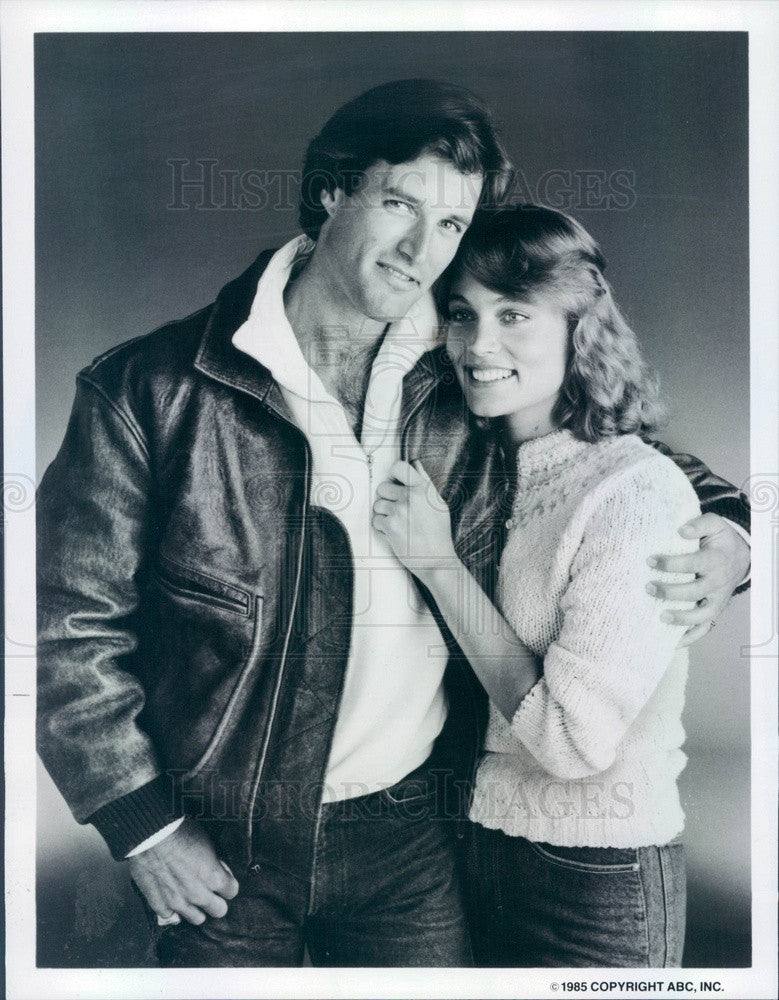 1985 Actors Michael Woods & Daphne Ashbrook in Our Family Honor Press Photo - Historic Images