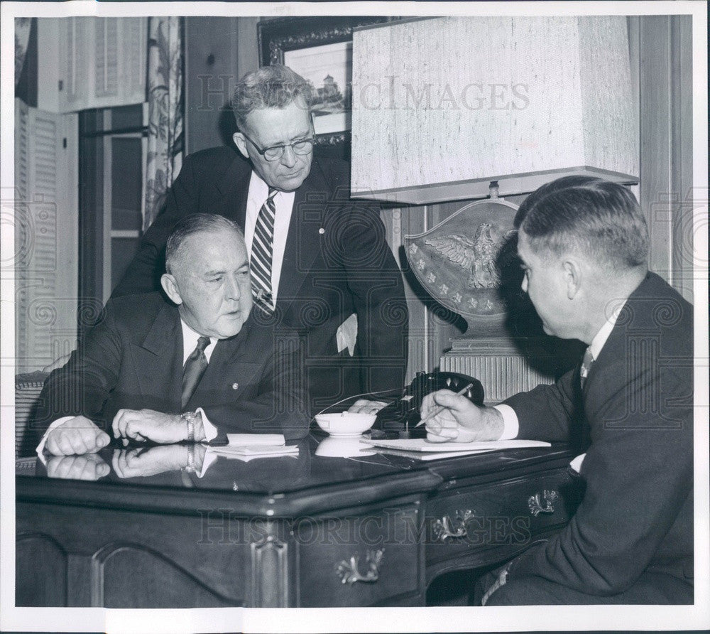1955 United Air Lines President WA Patterson, Don Martin Press Photo - Historic Images