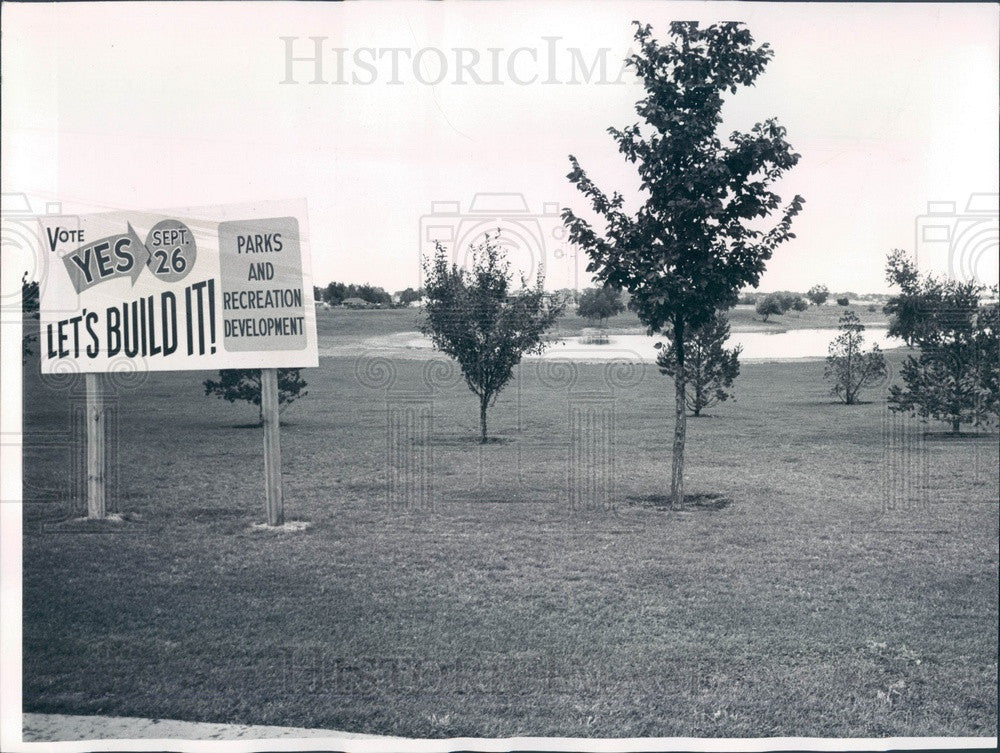1961 Denver, Colorado S Holly & E Mississippi Park Site Press Photo - Historic Images