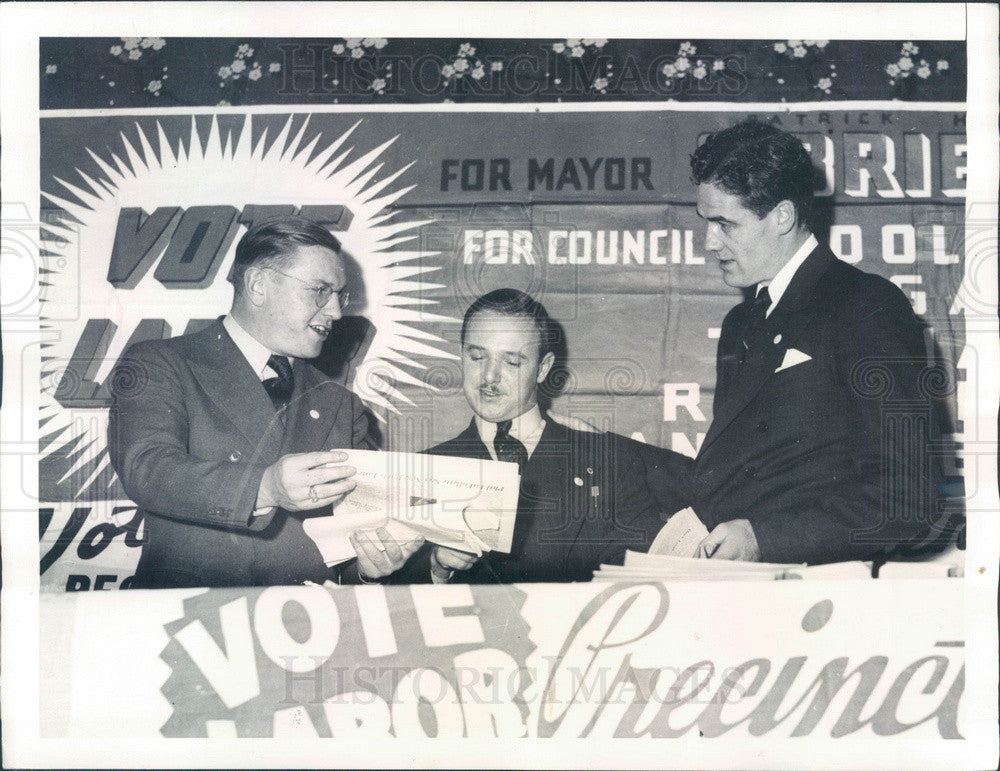 1937 Atlantic City, NJ Labor Leaders CIO Convention Delegates Press Photo - Historic Images