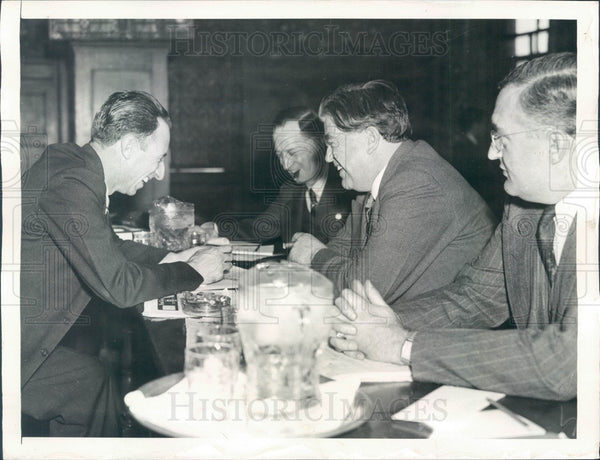 1937 Atlantic City, NJ Labor Convention, CIO Head John Lewis Press Photo - Historic Images