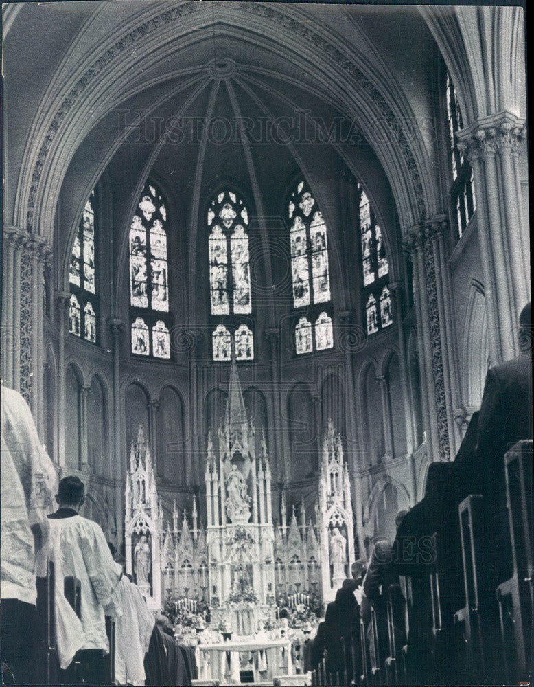 1967 Denver, Colorado Basilica of the Immaculate Conception Press Photo - Historic Images