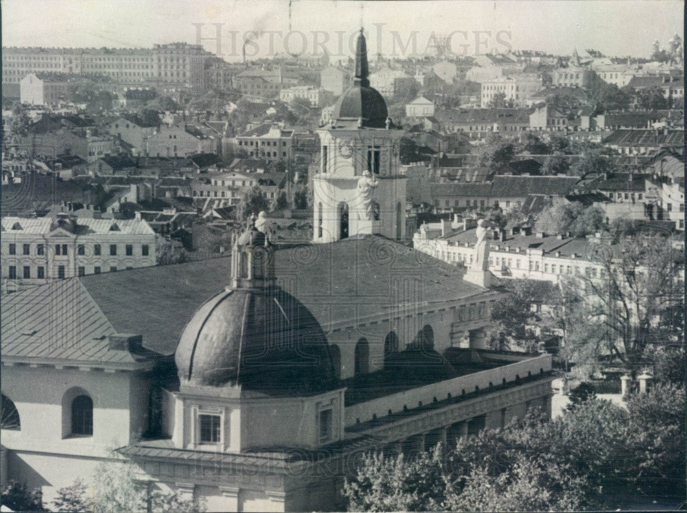 Undated Vilna, Poland Aerial View Press Photo - Historic Images