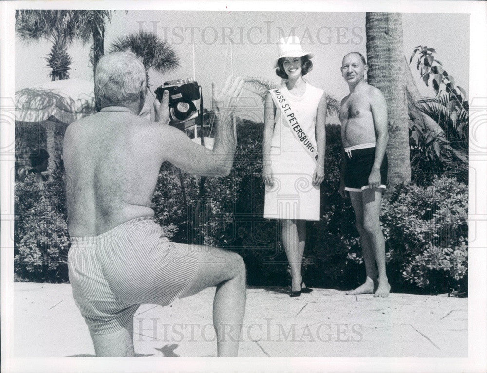 1967 Miss St Petersburg, Florida 1967, Leonard Apter, David Tucker Press Photo - Historic Images