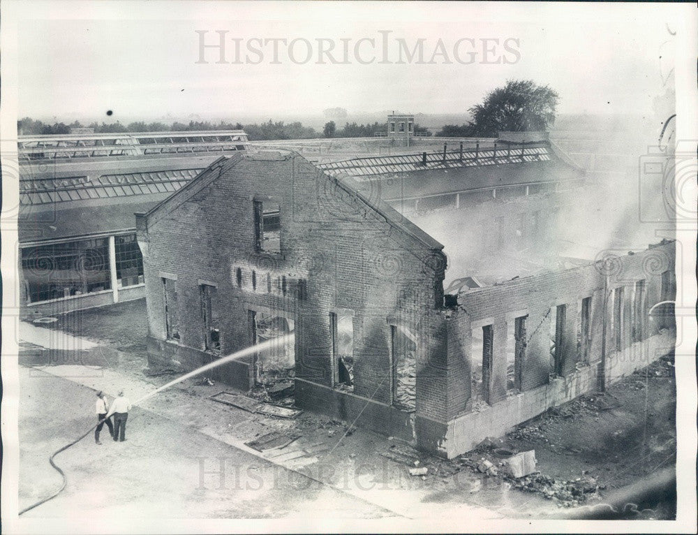 1934 US Pontiac Prison Break, Print Shop Fire Press Photo - Historic Images