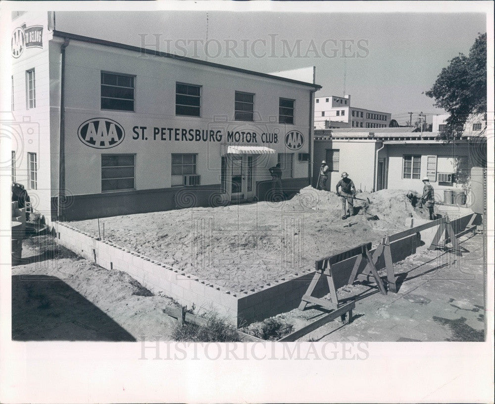 1963 St Petersburg, Florida AAA Motor Club HQ Building Construction Press Photo - Historic Images