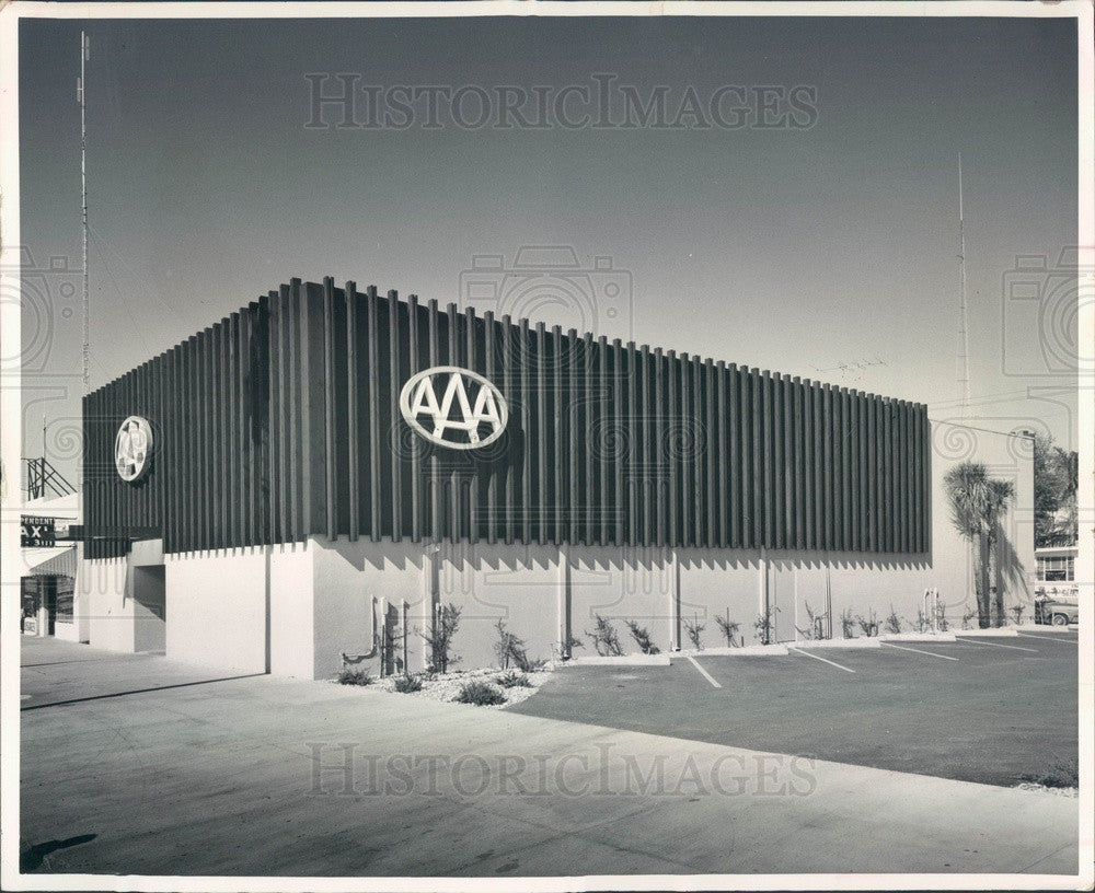1963 St Petersburg, Florida AAA Motor Club Headquarters Press Photo - Historic Images