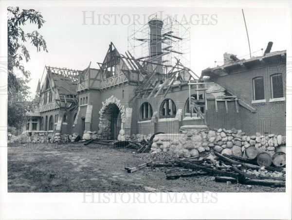 1992 Chicago, Illinois Humboldt Park Stable Fire Damage Press Photo - Historic Images