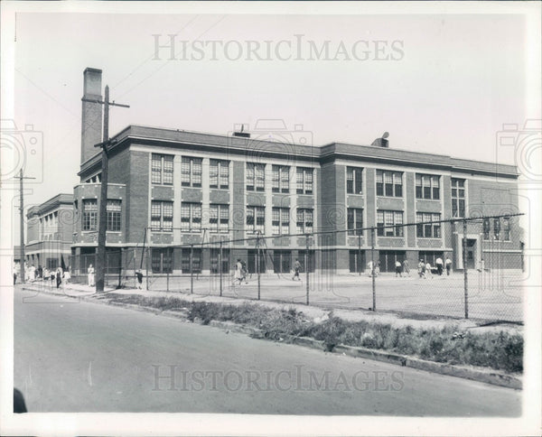1935 Detroit, Michigan Holms School Press Photo - Historic Images