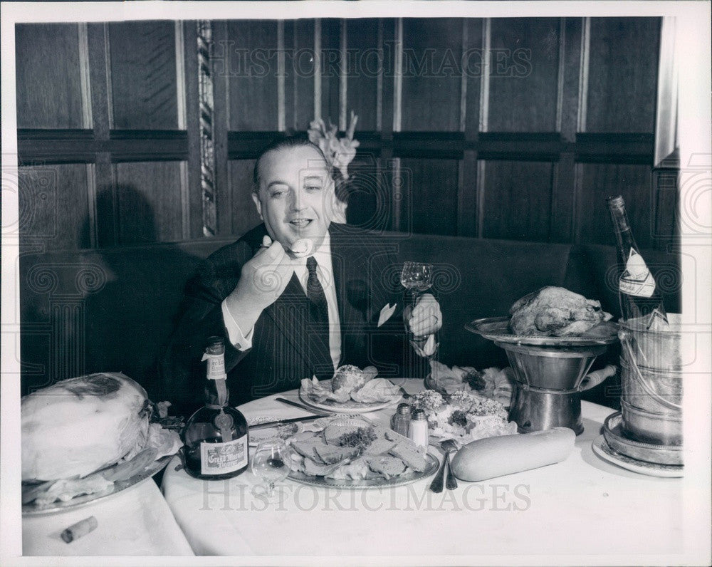 1950 French Gourmet Jean Ravaud, Head of New York Wine Importing Co Press Photo - Historic Images