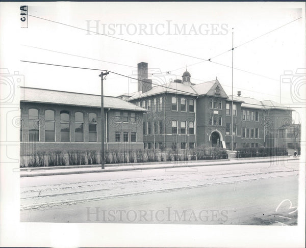 1935 Detroit, Michigan Lillibridge School Press Photo - Historic Images
