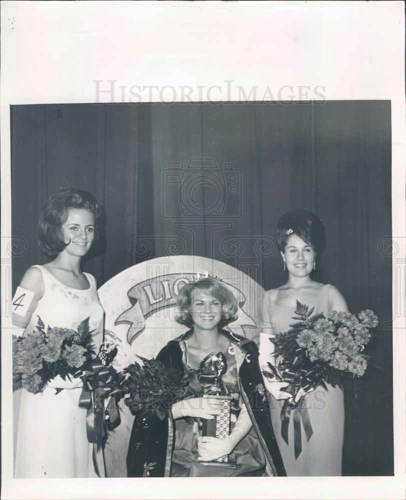 1967 Miss Zephyrhills, FL Sharon Sabo, Nancy Bentley, Linda Nelson Press Photo - Historic Images