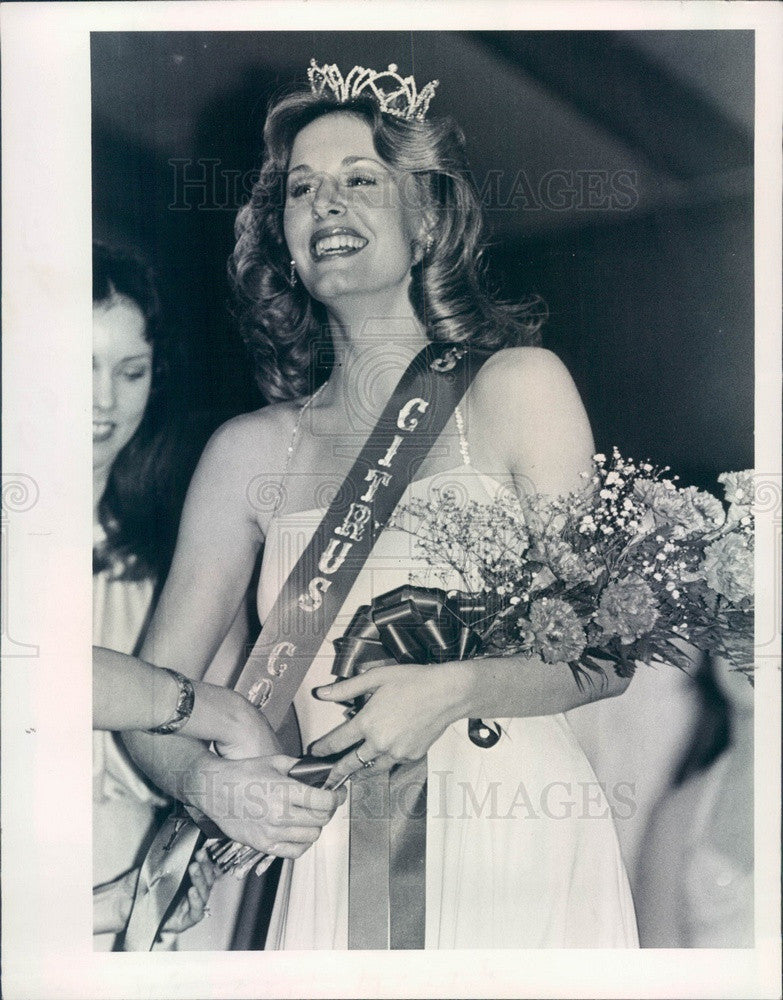 1978 Miss Citrus County, Florida Linda Paulter Press Photo - Historic Images