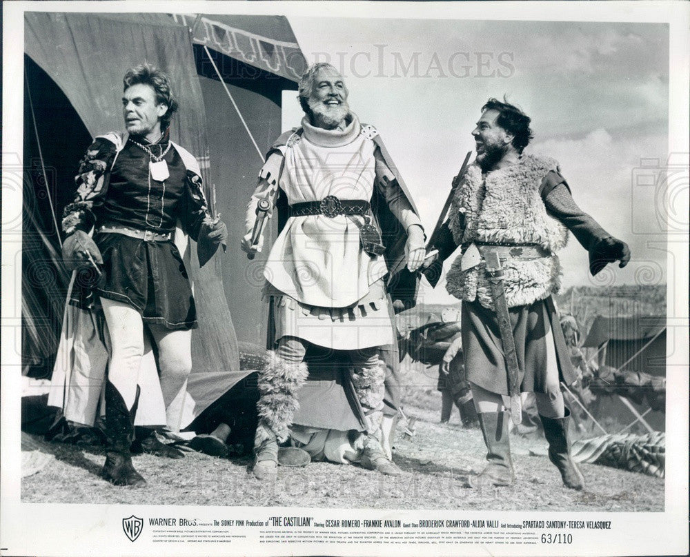 1963 Hollywood Actor Cesar Romero in Film The Castilian Press Photo - Historic Images
