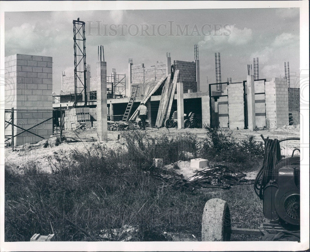 Undated Arcadia, FL Florida State Mental Hospital Construction Press Photo - Historic Images