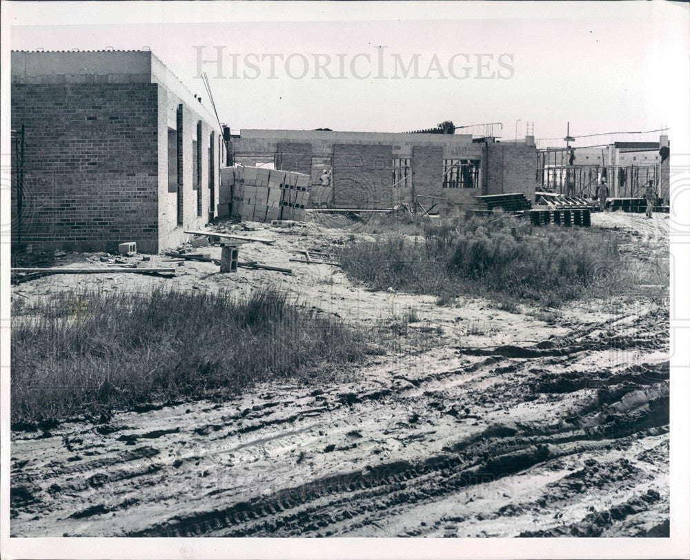 1960 Arcadia, FL Florida State Mental Hospital Construction Press Photo - Historic Images