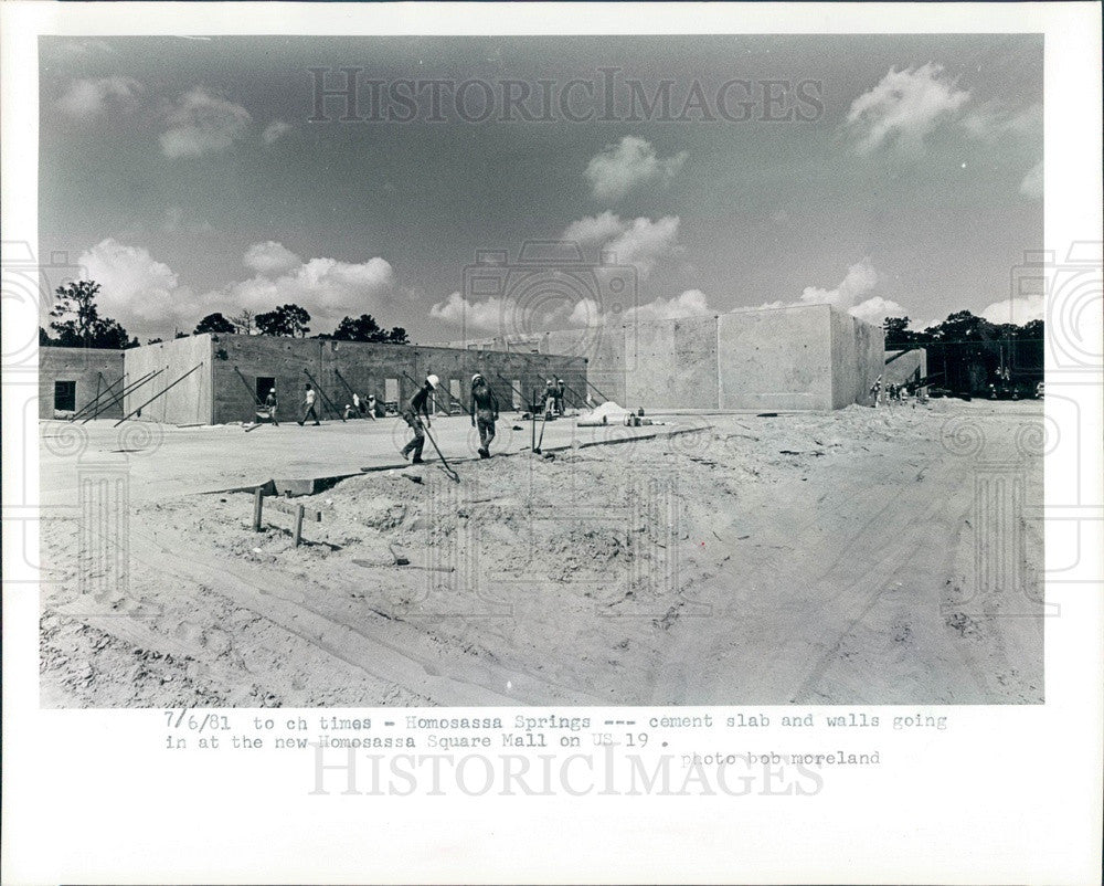 1981 Homosassa Springs, Florida Homosassa Square Mall Construction Press Photo - Historic Images