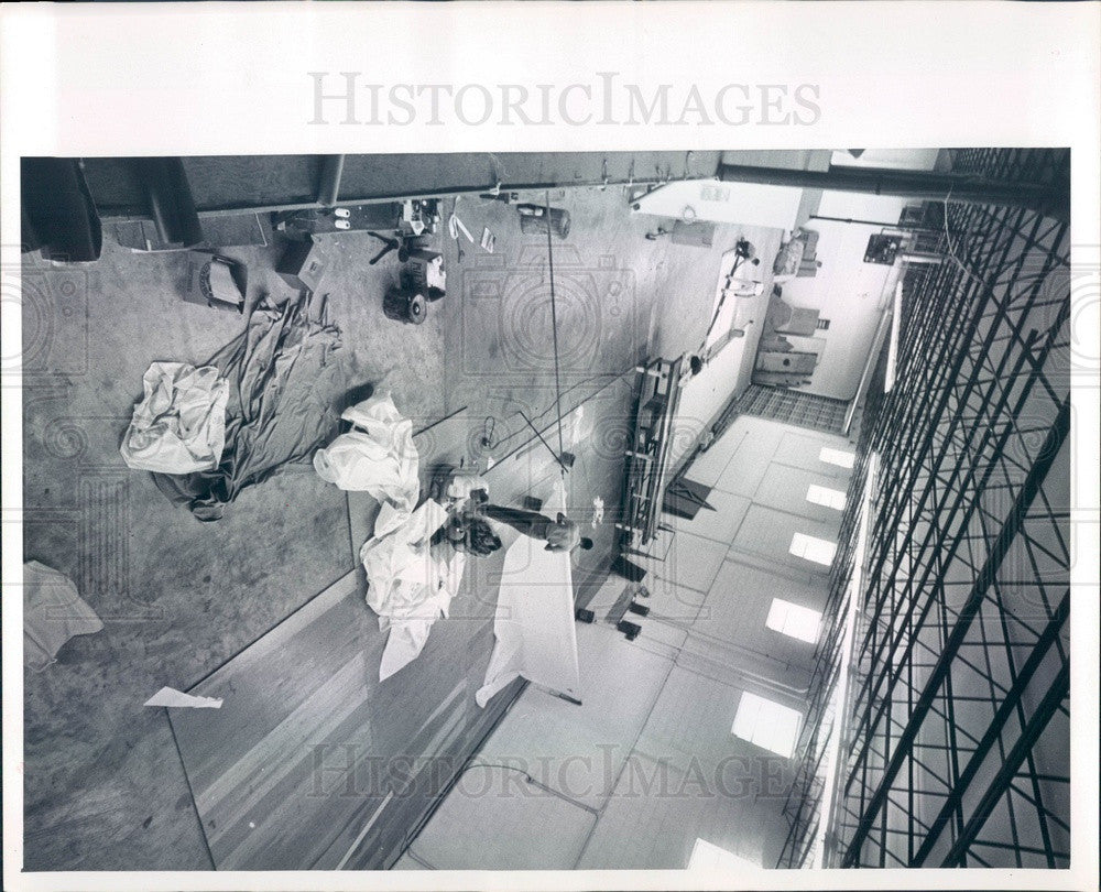 1965 St Petersburg, Florida Morgan Yacht Corp Sail Loft Press Photo - Historic Images