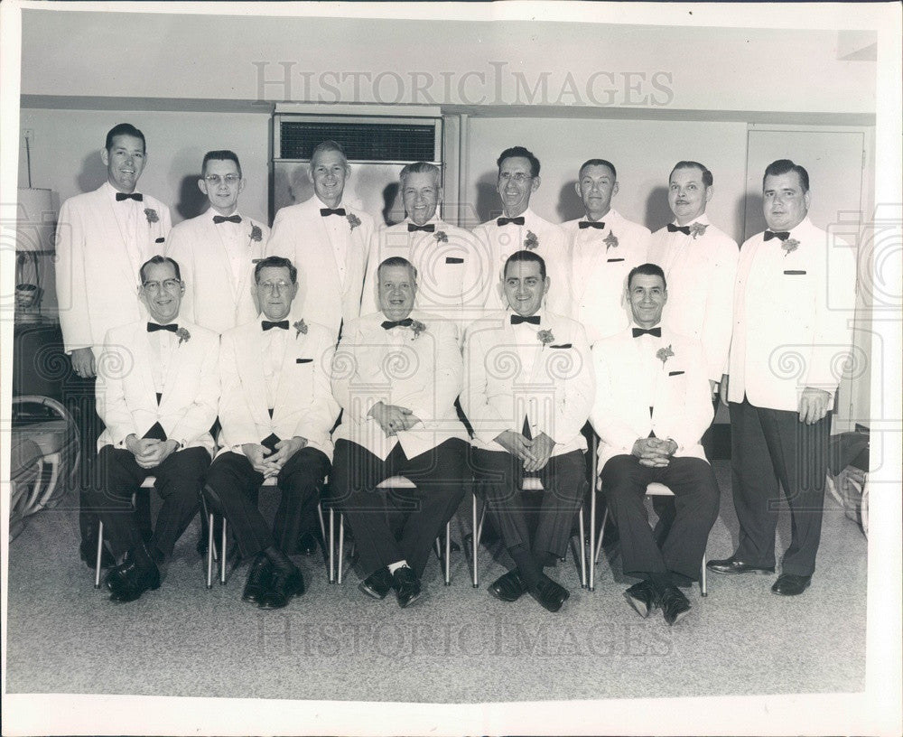 1962 St Petersburg, Florida Moose Lodge Officers Press Photo - Historic Images