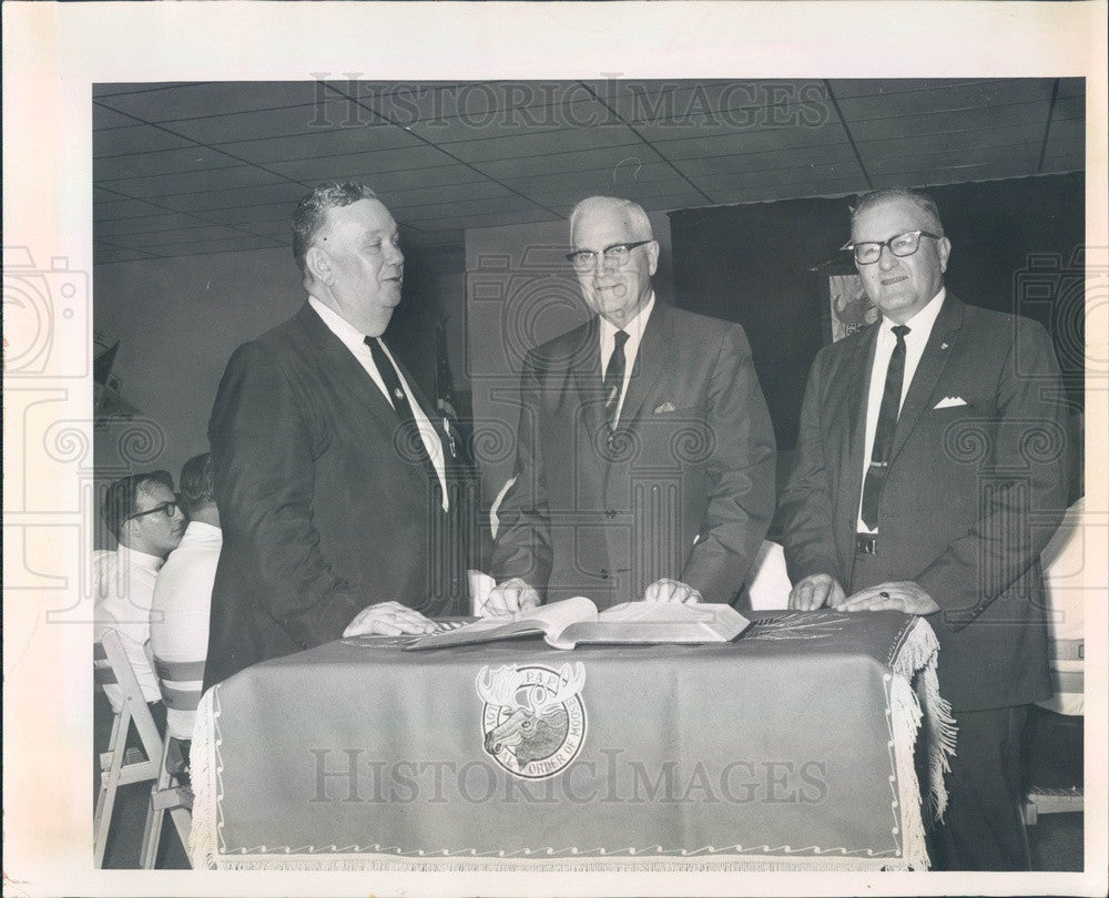 1966 New Port Richey, Florida Moose Lodge, James McKeone Press Photo - Historic Images