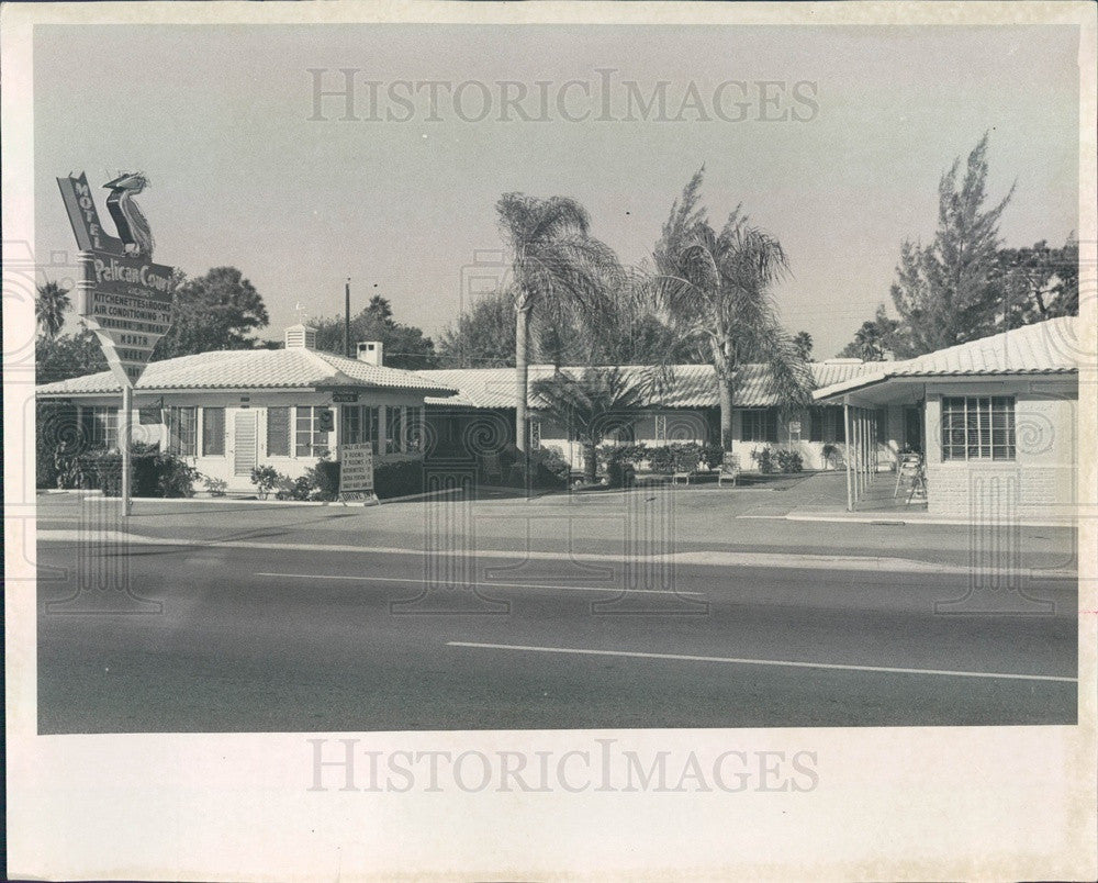 Undated St Petersburg, Florida Pelican Court Motel Press Photo - Historic Images