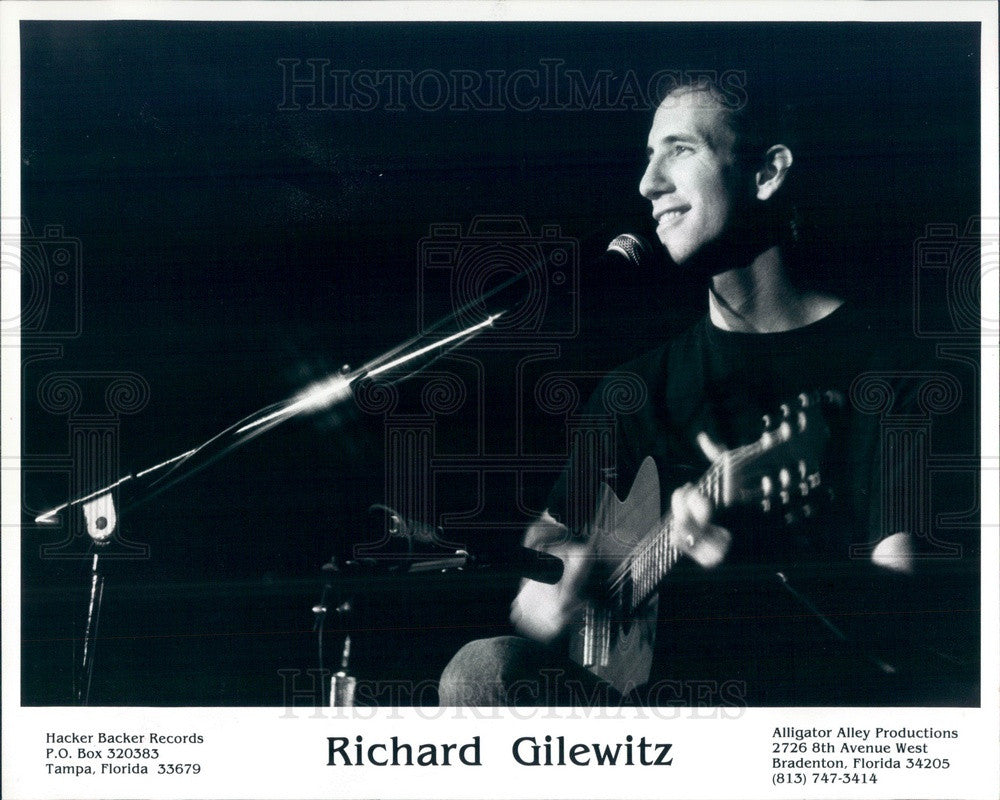 1989 Fingerstyle Guitarist/Composer Richard Gilewitz Press Photo - Historic Images