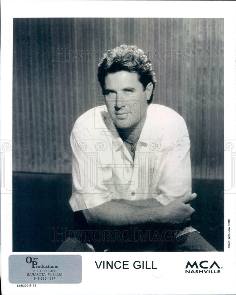 1999 American Country Music Singer/Musician Vince Gill Press Photo - Historic Images