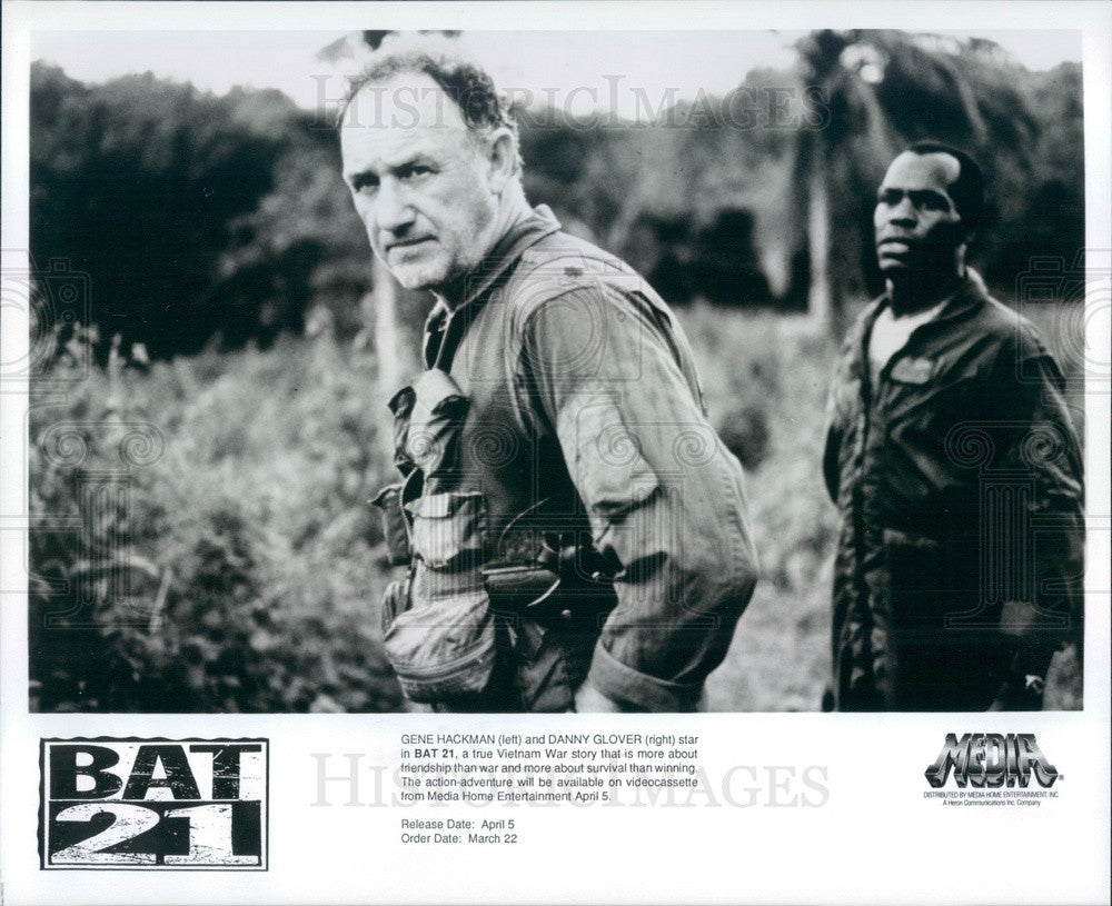Undated Hollywood Actors Gene Hackman & Danny Glover in Bat 21 Press Photo - Historic Images