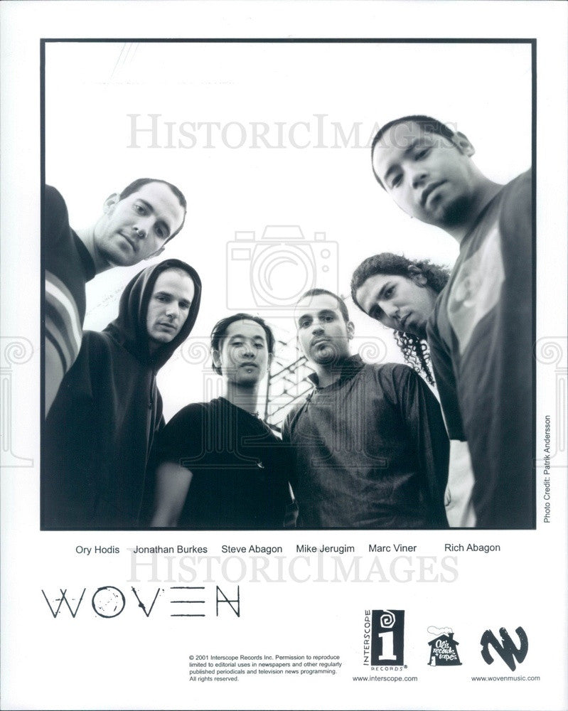 2002 American Rock Band Woven Press Photo - Historic Images