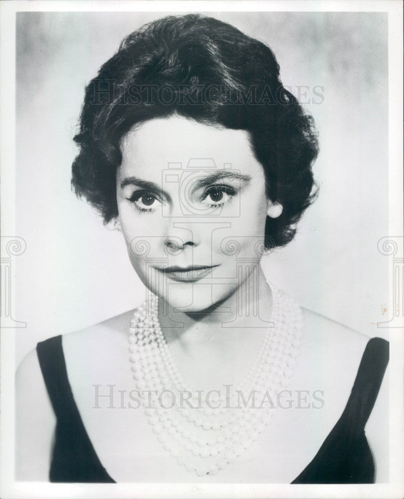1965 American Hollywood Actress Irene Worth Press Photo - Historic Images