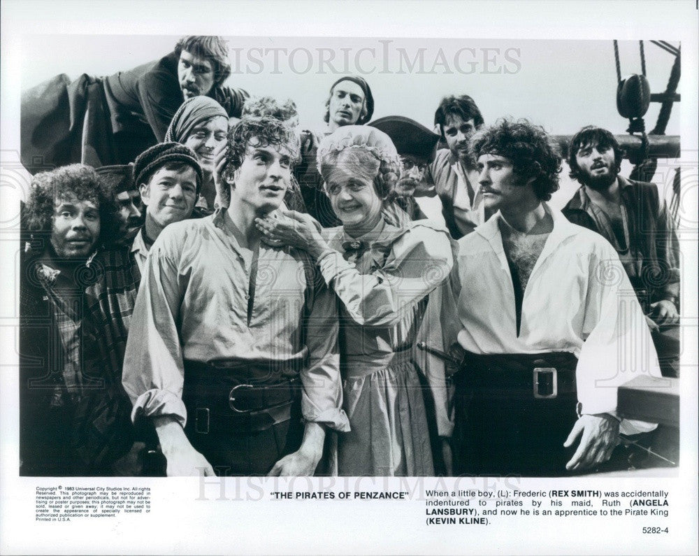 1983 Hollywood Actors Rex Smith/Angela Lansbury/Kevin Kline Press Photo - Historic Images