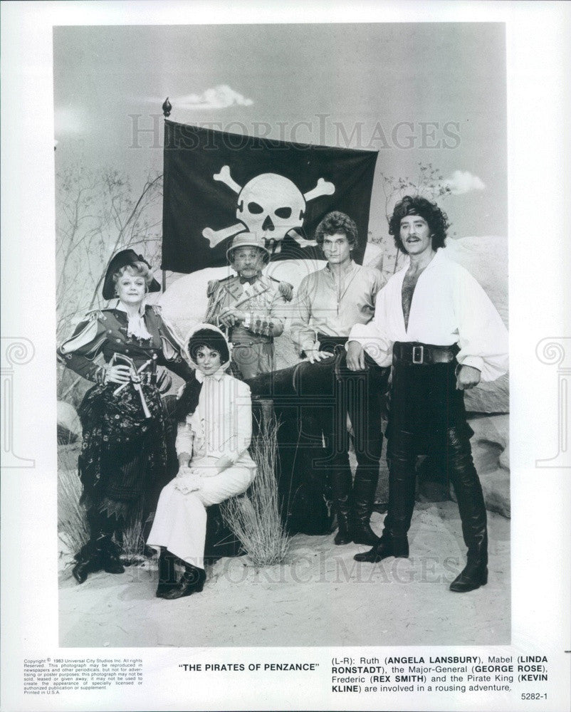 1983 Actors Angela Lansbury/Linda Ronstadt/G Rose/Rex Smith/K Kline Press Photo - Historic Images